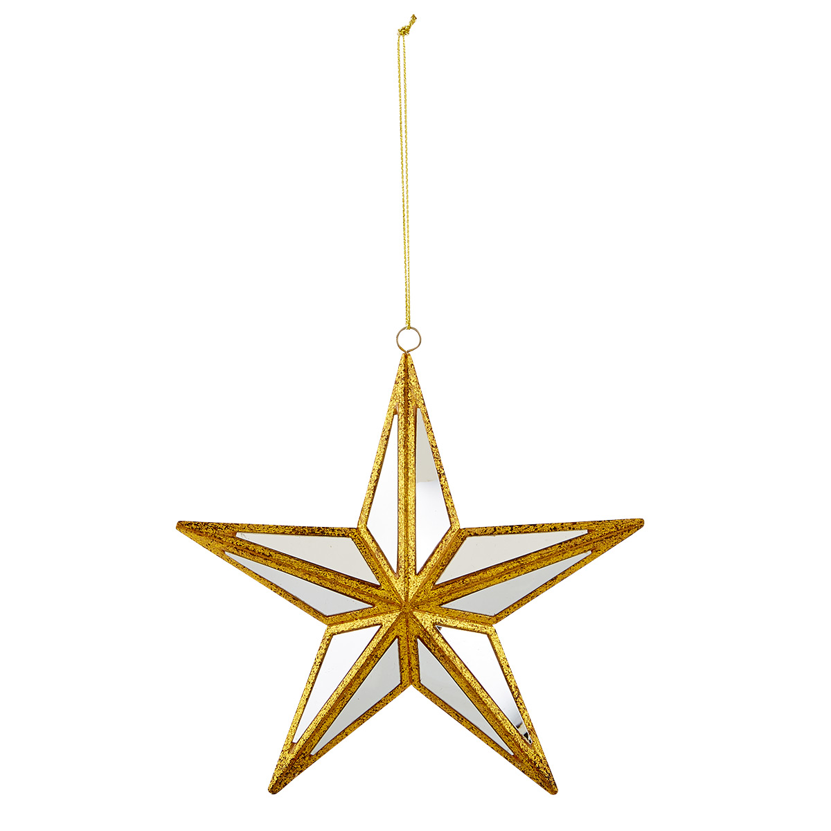 Mirrored Star Tie-On Ornament