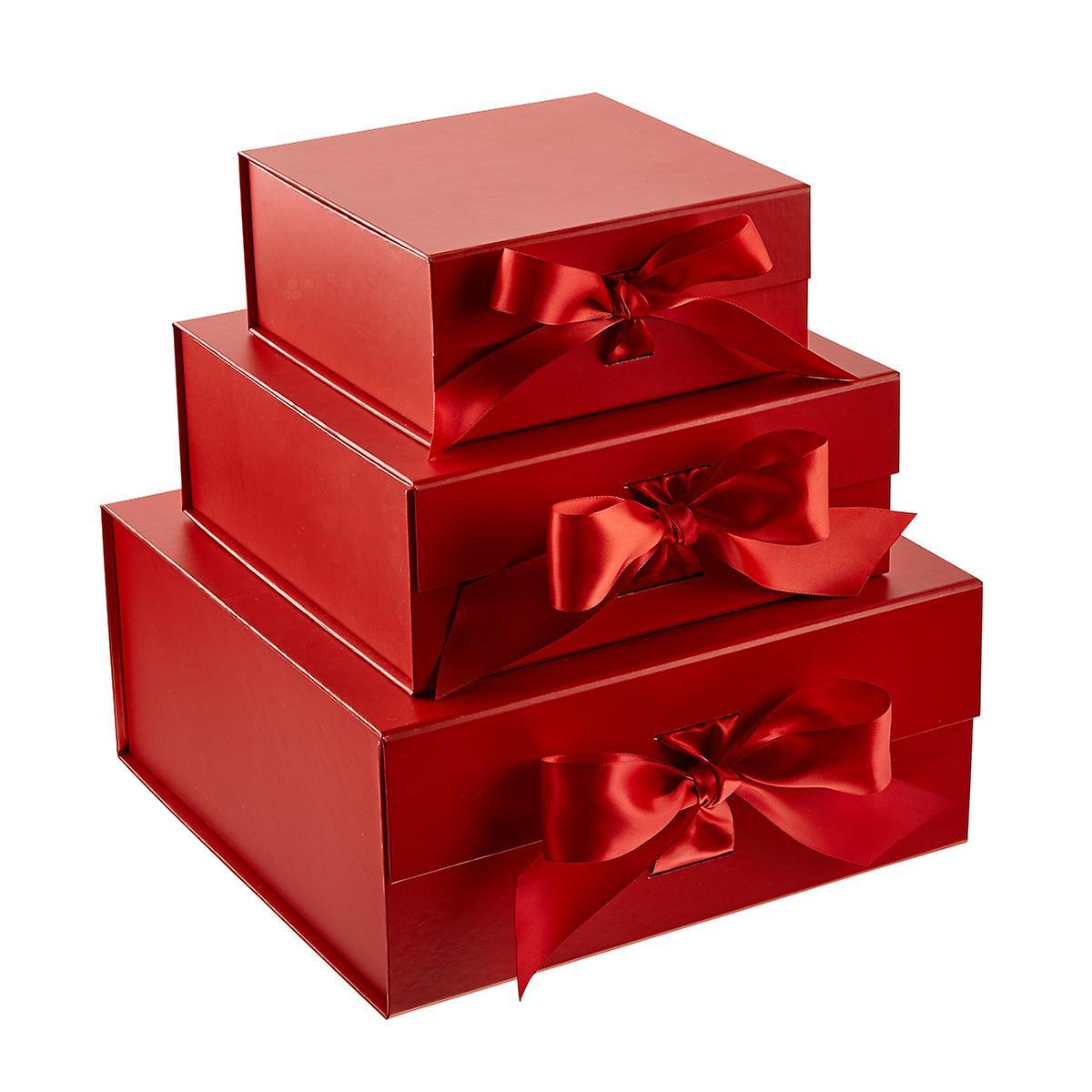 Collapsible Gift Boxes with Bow