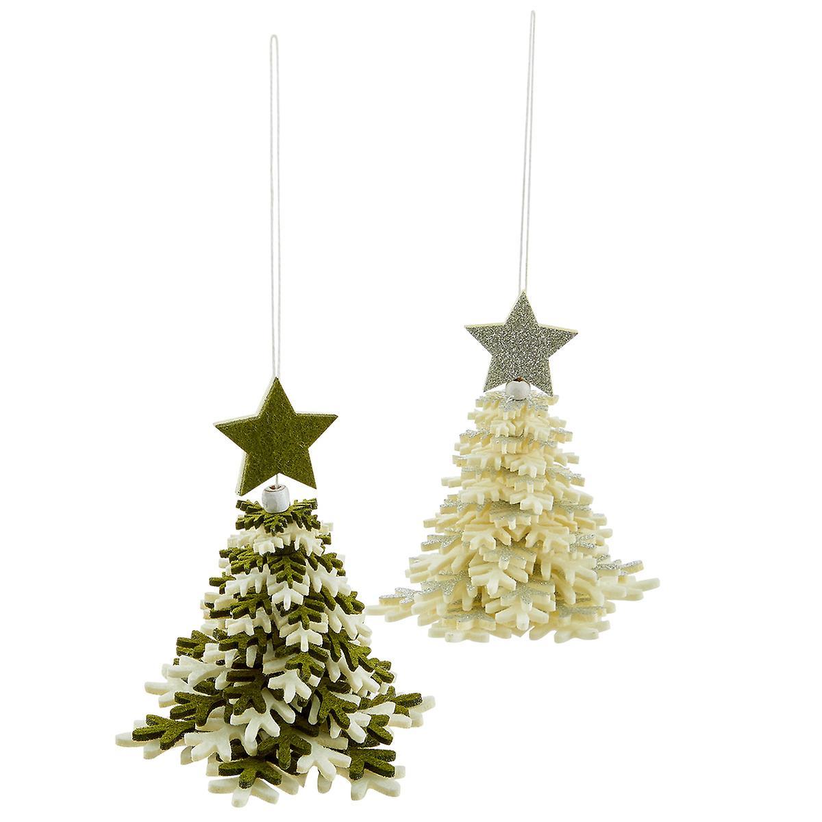 Merry Christmas Tree Felt Tie-On Ornament