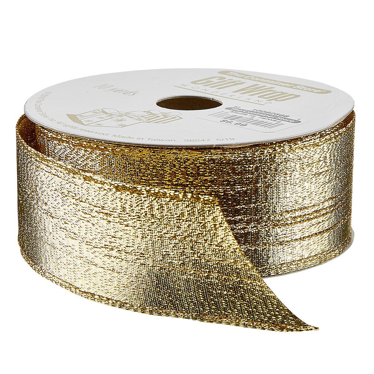Gold Metallic Lame Wired Ribbon