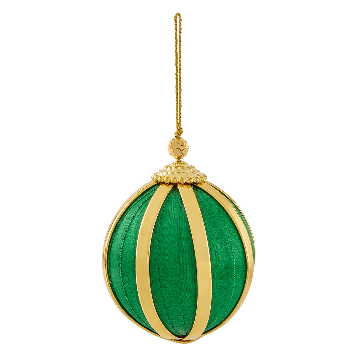 Green & Gold Ball Tie-On Ornament