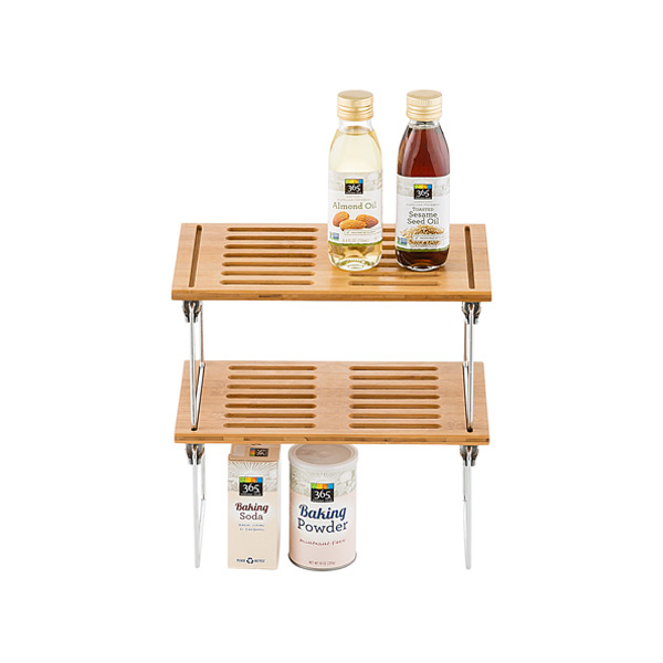Small Bamboo Stackable Shelf