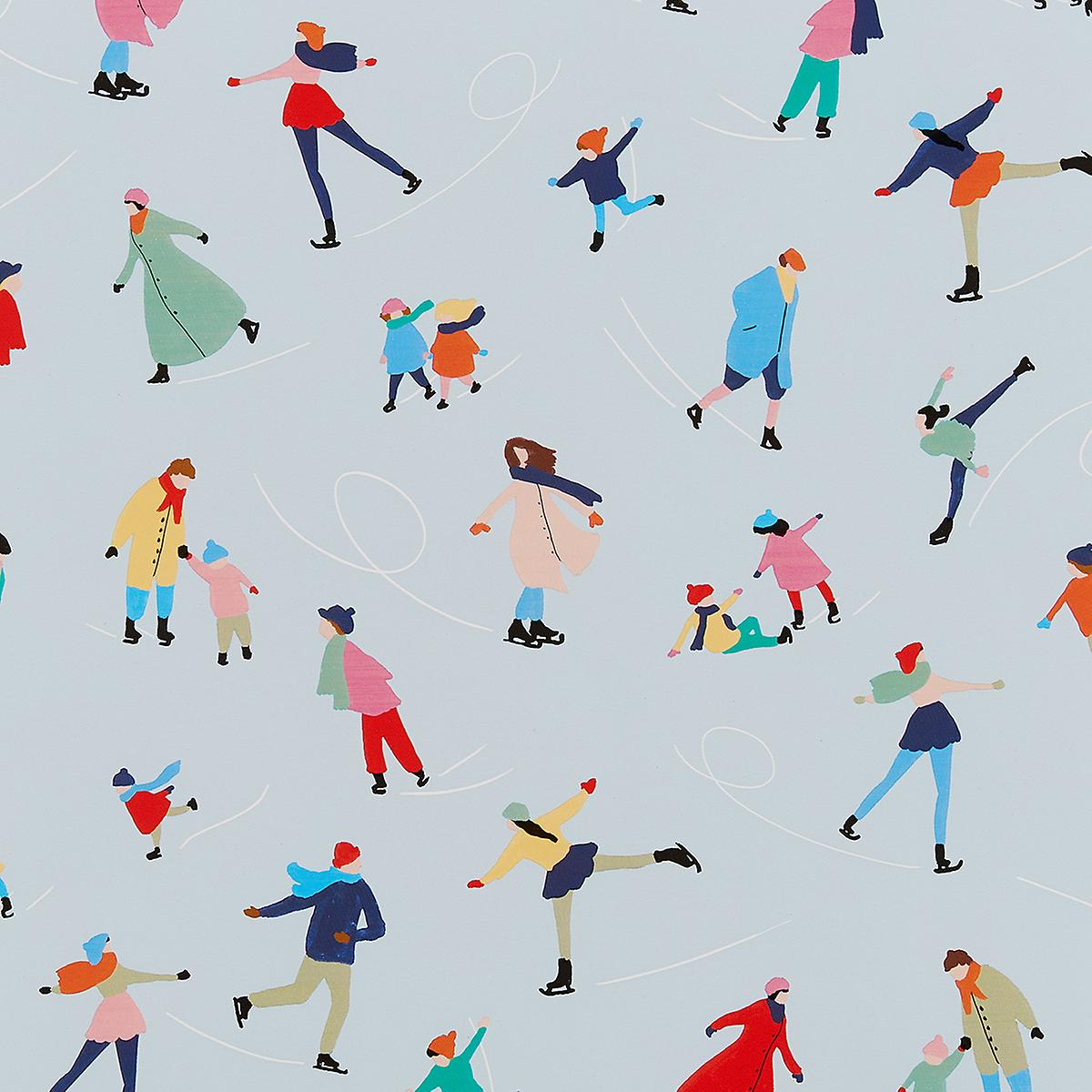 Vero Ice Skaters Wrapping Paper