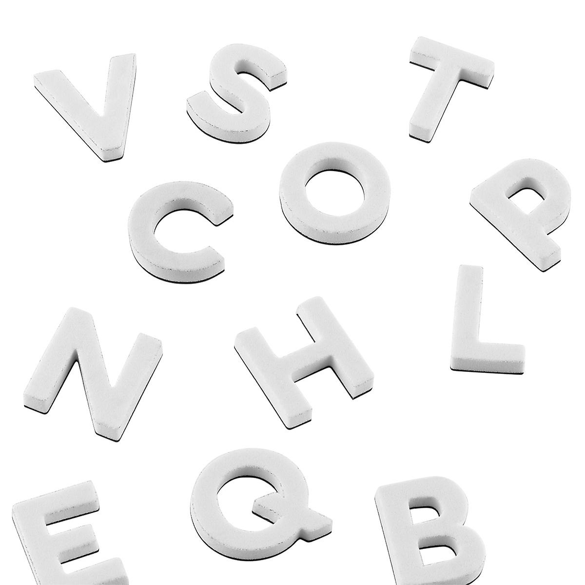 White Alphabet Magnets
