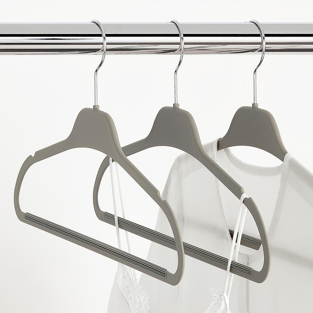 Grey Non-Slip Rubberized Suit Hangers Case of 120