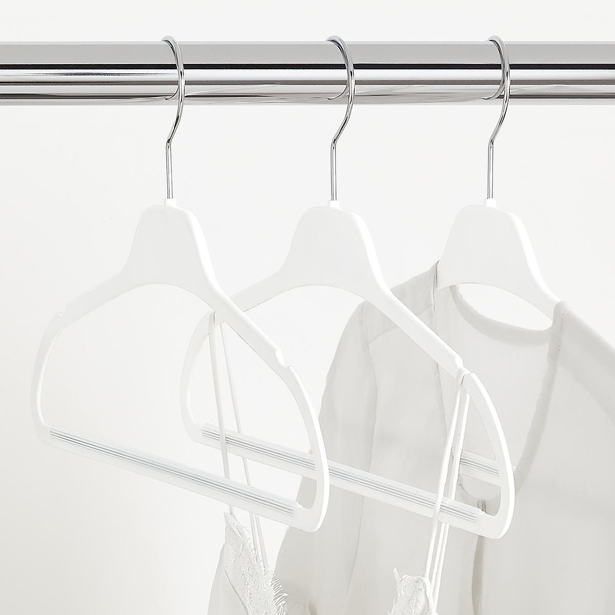 White Non-Slip Rubberized Suit Hangers Case of 120