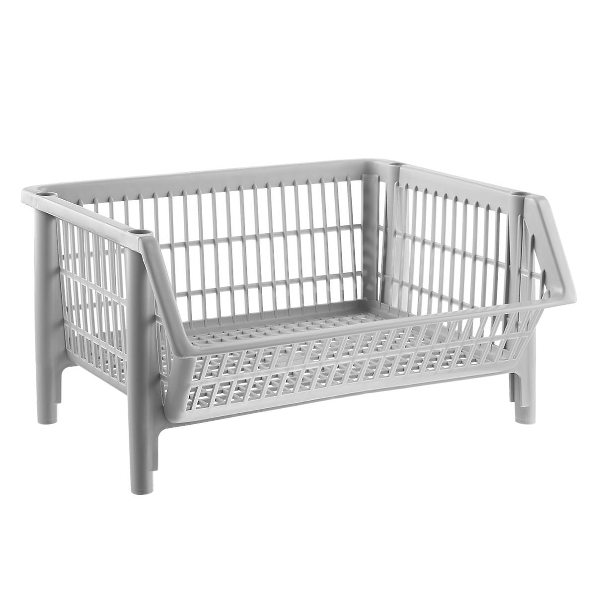 Our Basic Light Grey Stackable Basket