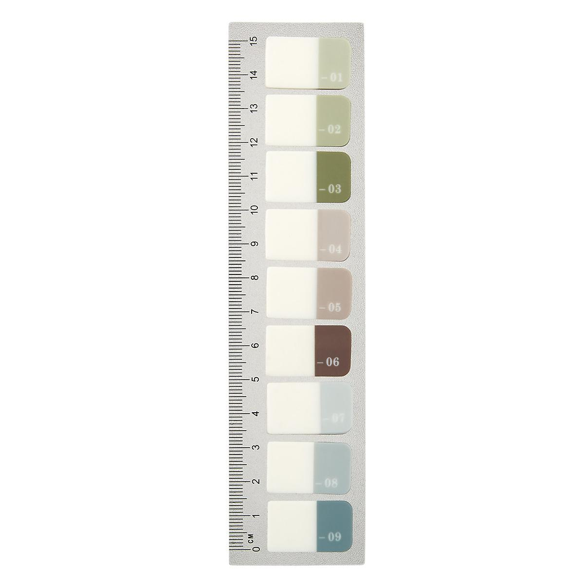 Monograph Index Number Tabs with Ruler