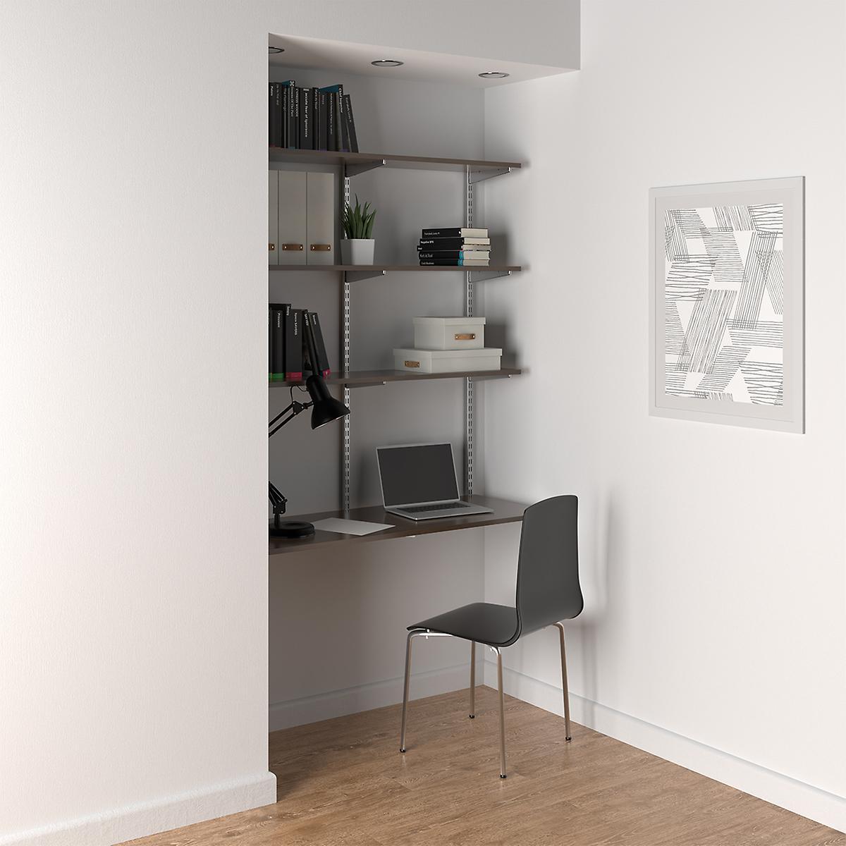 Driftwood & Platinum Computer Desk