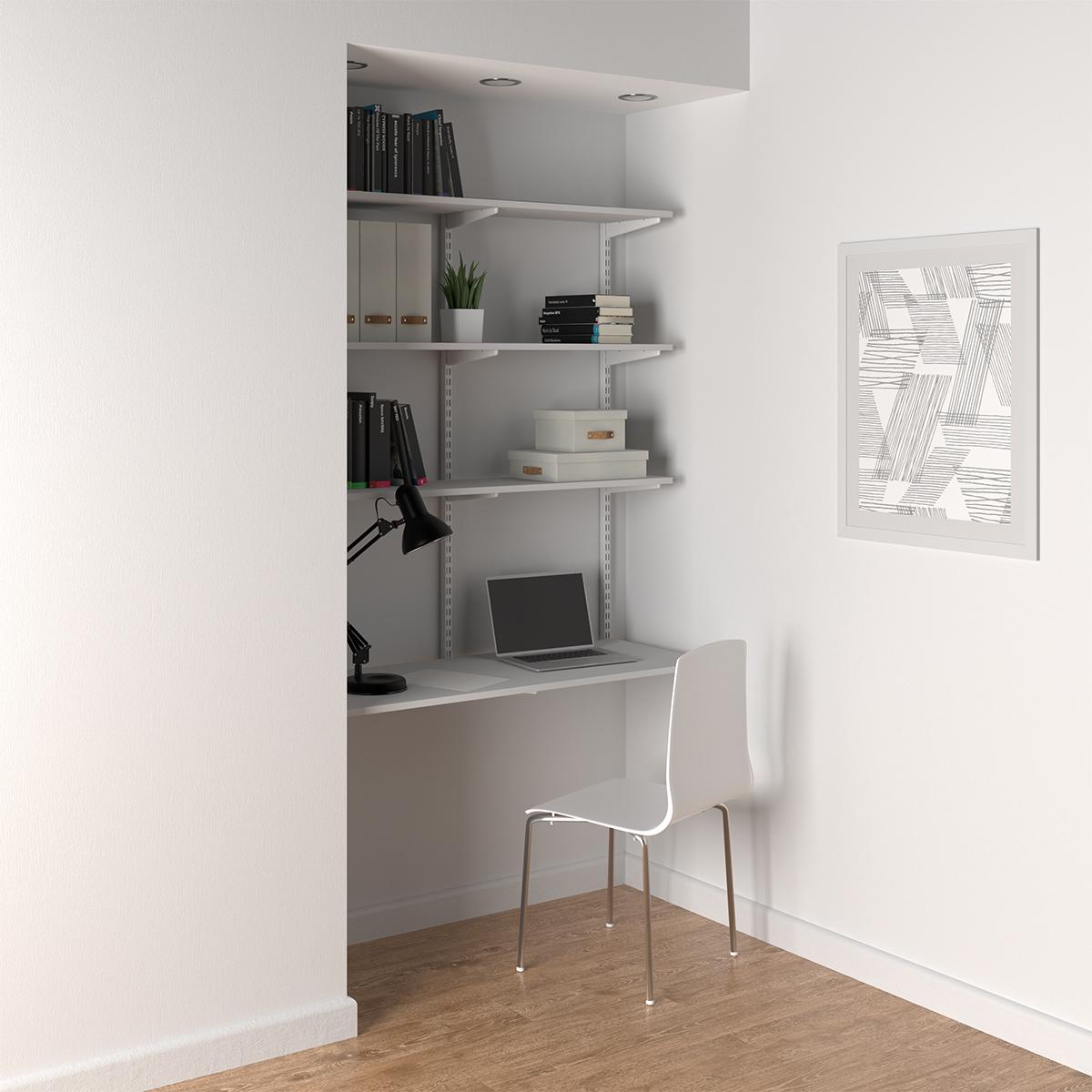 Elfa White Wall-Mounted Desk