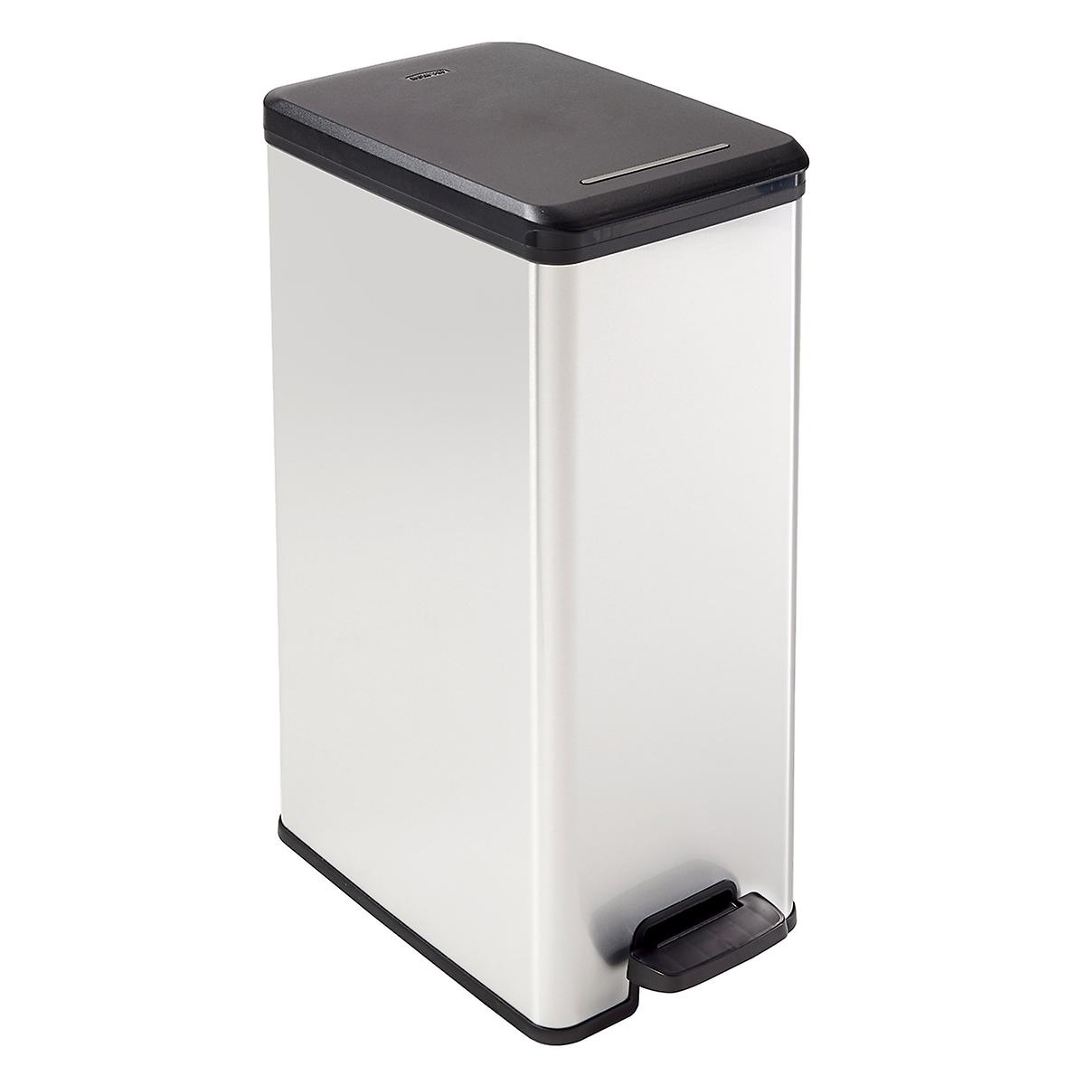 10.5 gal. Deco Slim Step-Open Trash Can