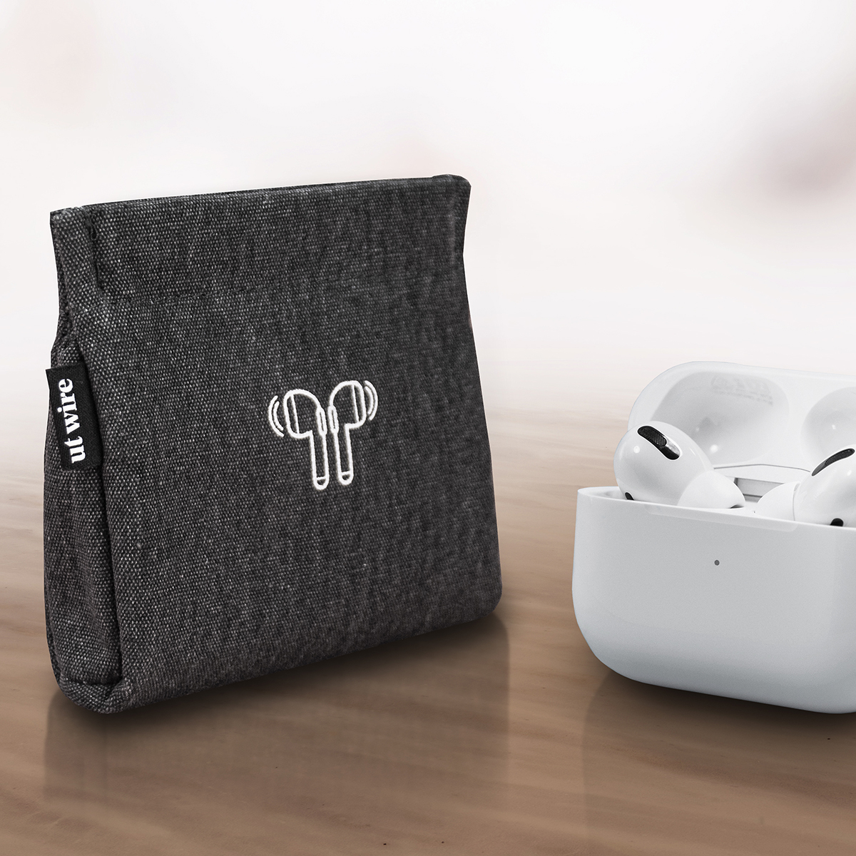 AirPod Charcoal Accessory Pouch