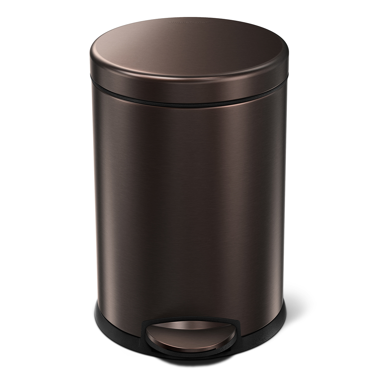simplehuman Bronze 1.2 gal. Round Step Trash Can