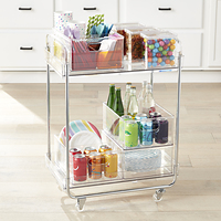 The Home Edit Clear Rolling Cart