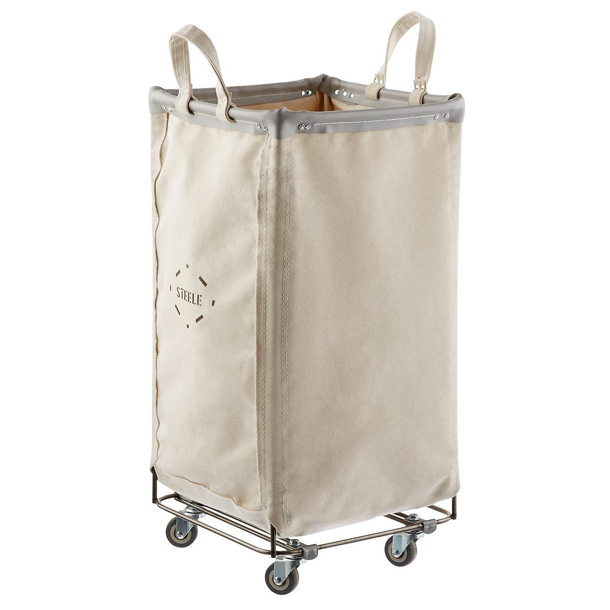 Steele Canvas Natural & Grey Squared Sorting Hamper