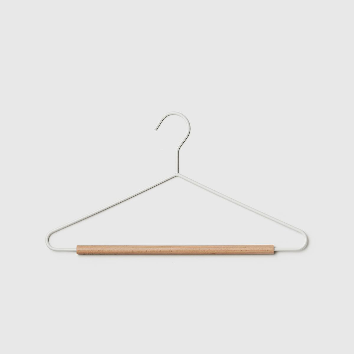 Marie Kondo Cloud White Serene Matte Metal Suit Hanger