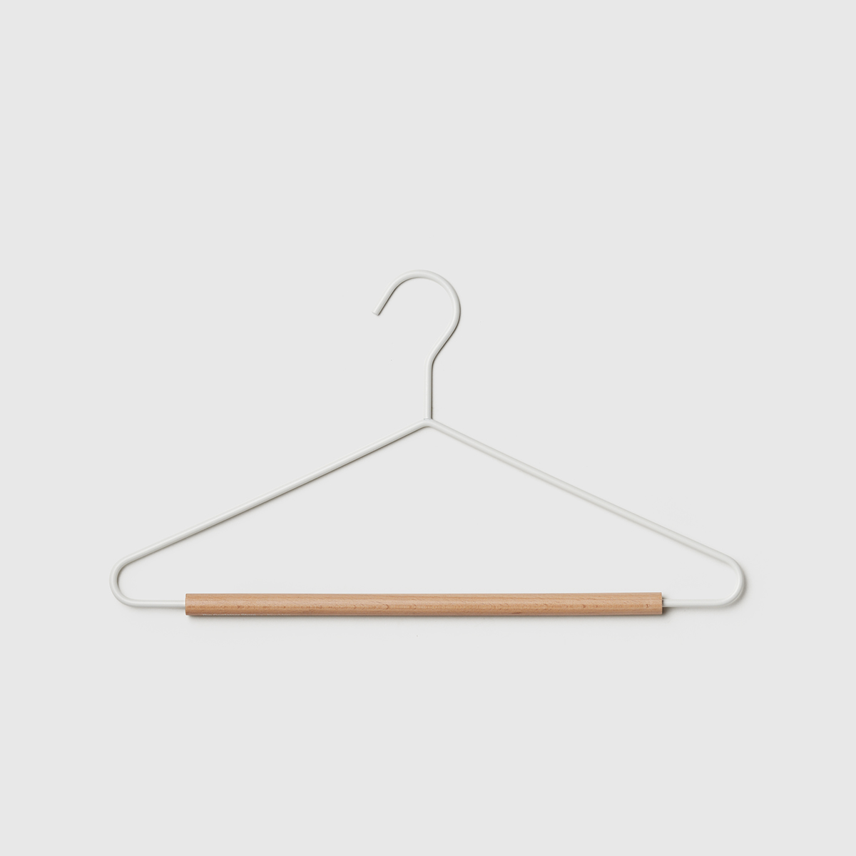 Marie Kondo Cloud White Serene Matte Metal Hangers Case of 20