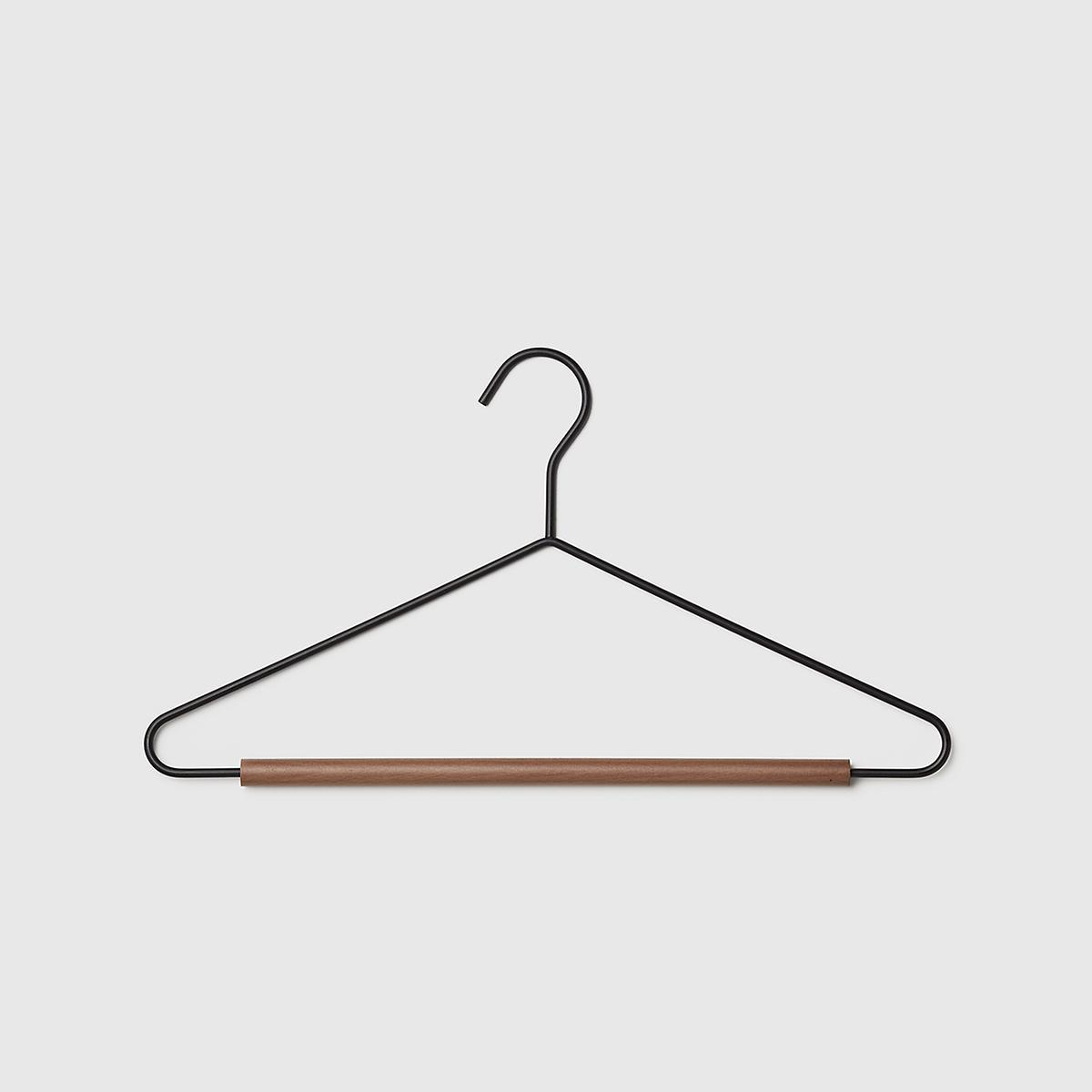 Marie Kondo Ink Black Serene Matte Metal Suit Hanger