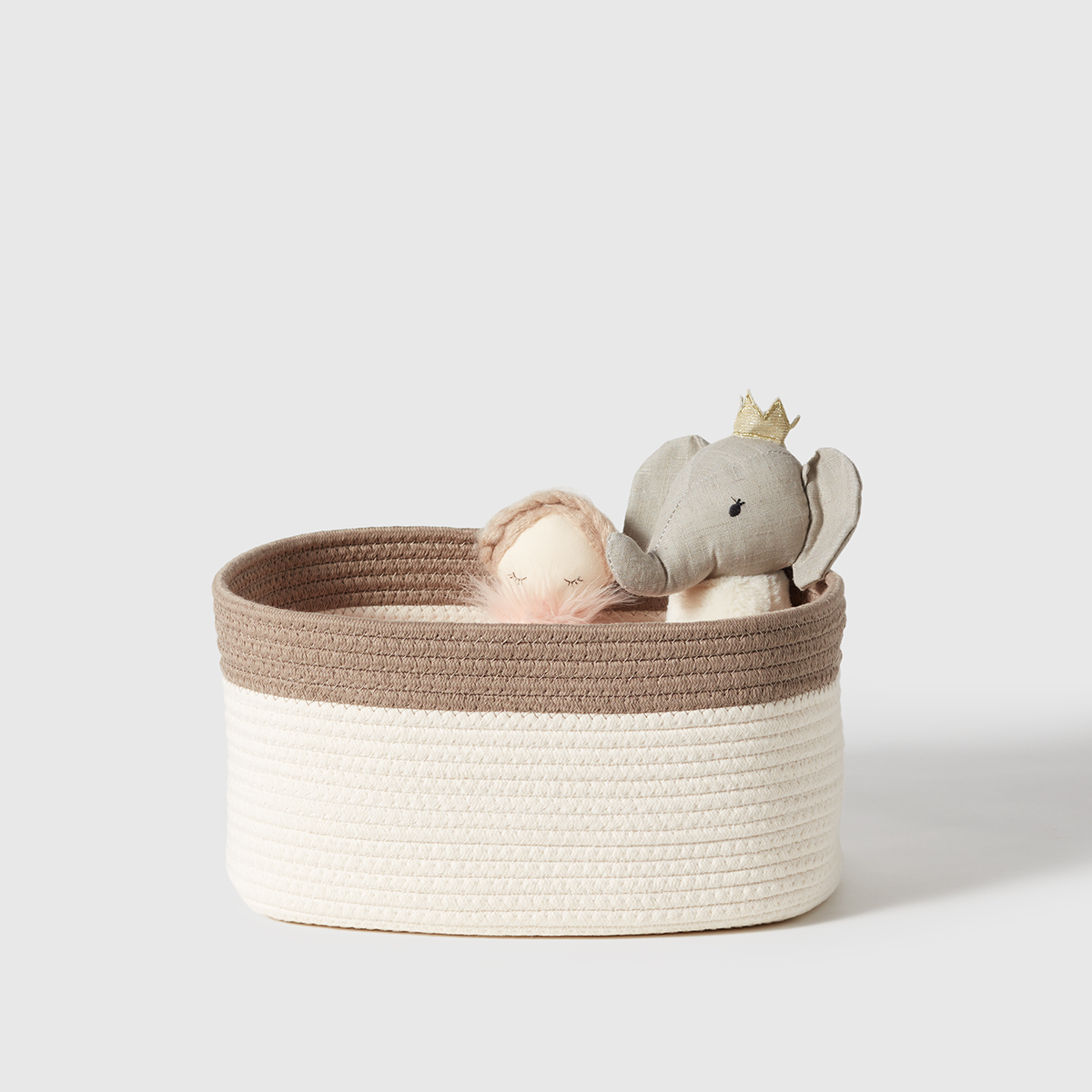 Marie Kondo Clay Brown Kawaii Cotton Rope Bin
