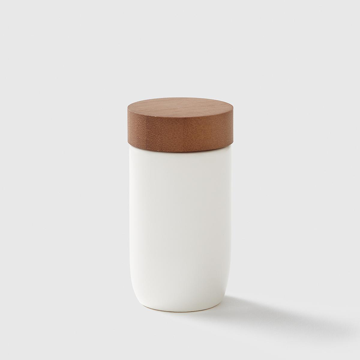 Marie Kondo Cloud White Ceramic Spice Jar with Bamboo Lid