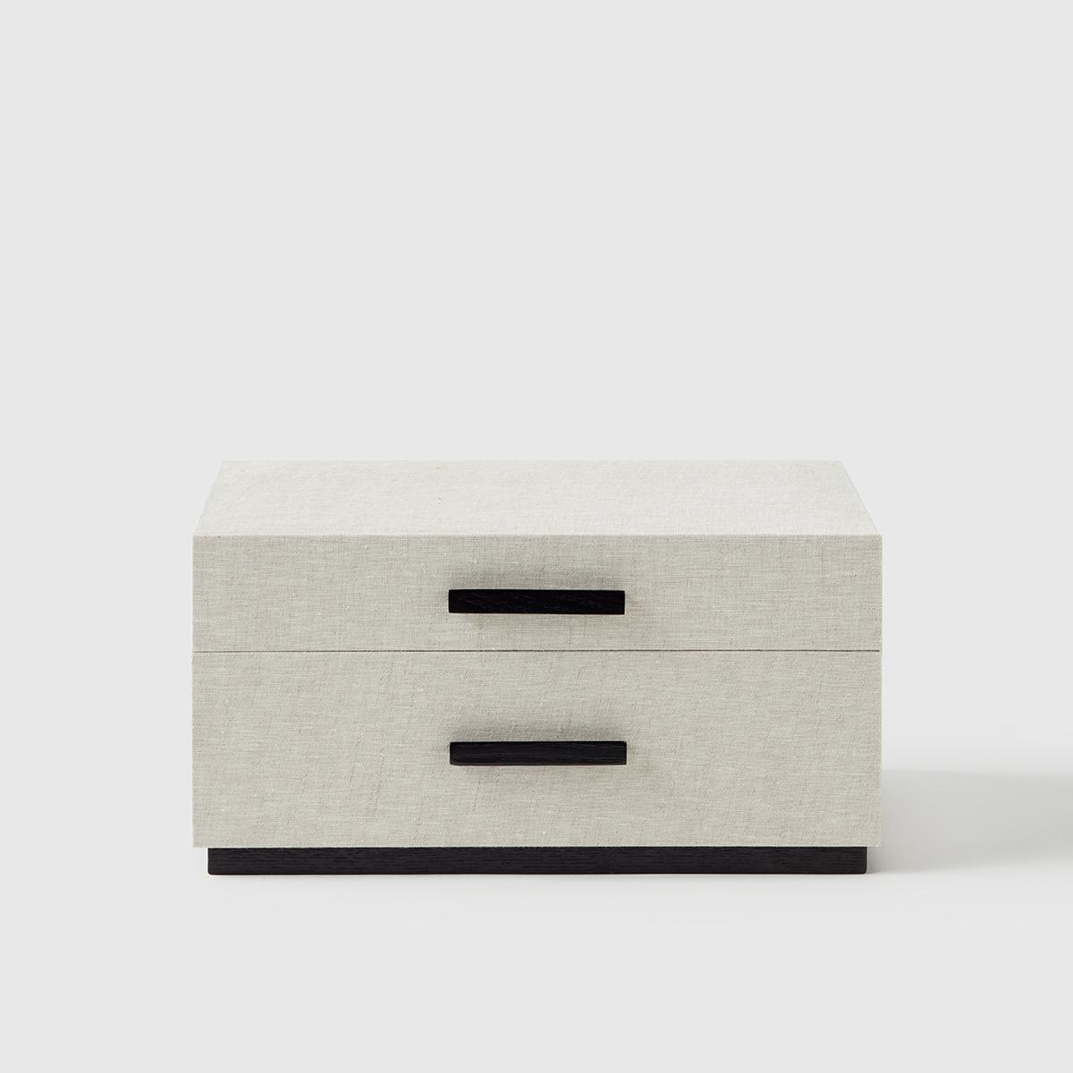 Marie Kondo 2-Drawer Linen Jewelry Box