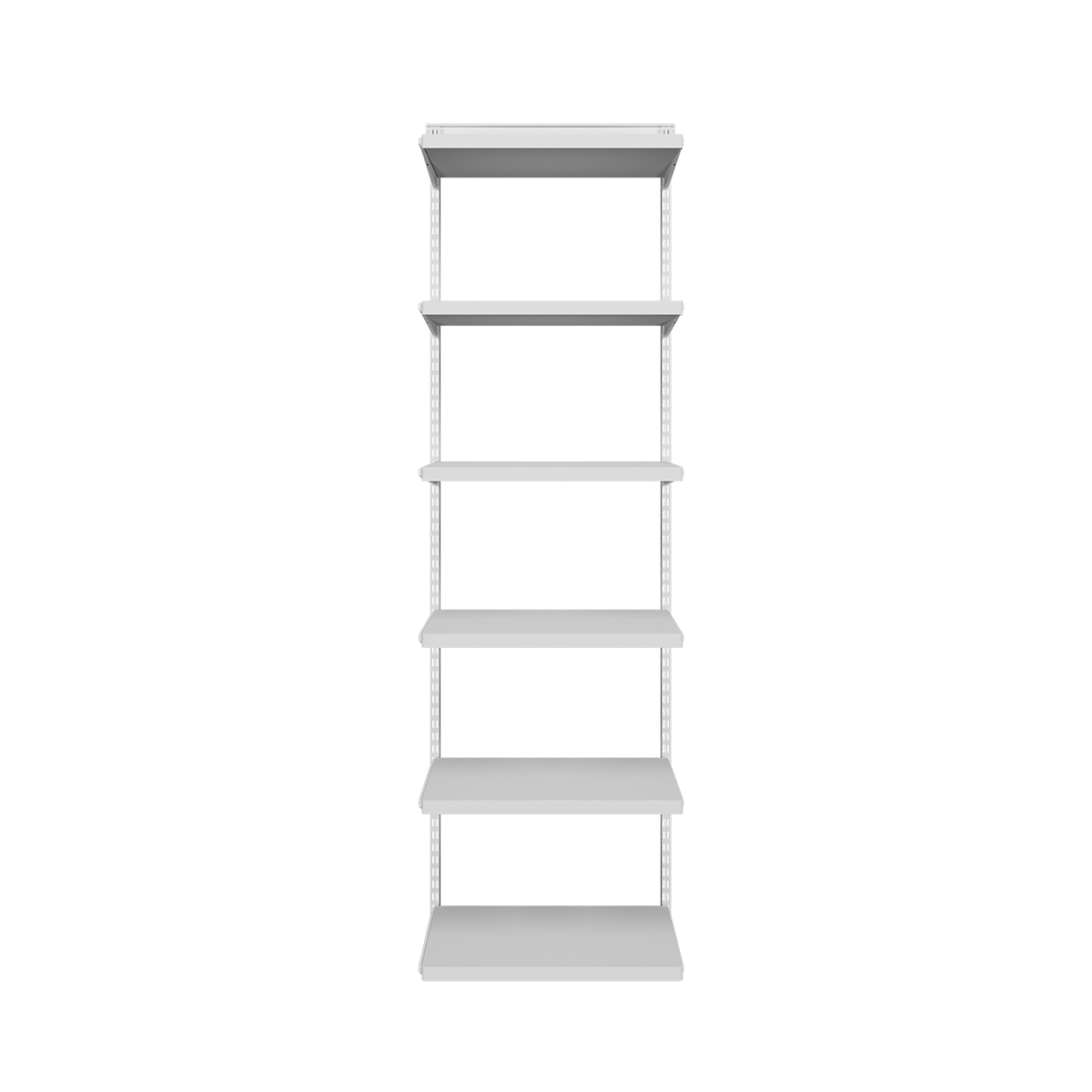 Elfa Décor White Bookshelf