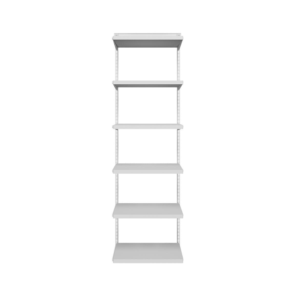 Elfa Décor White Bookshelf