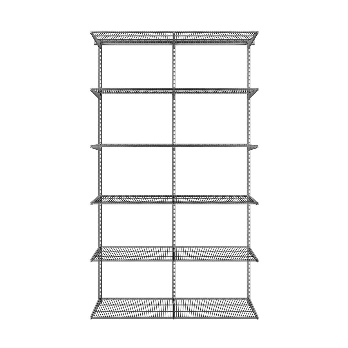 Elfa Classic Platinum Ventilated Shelving Solution