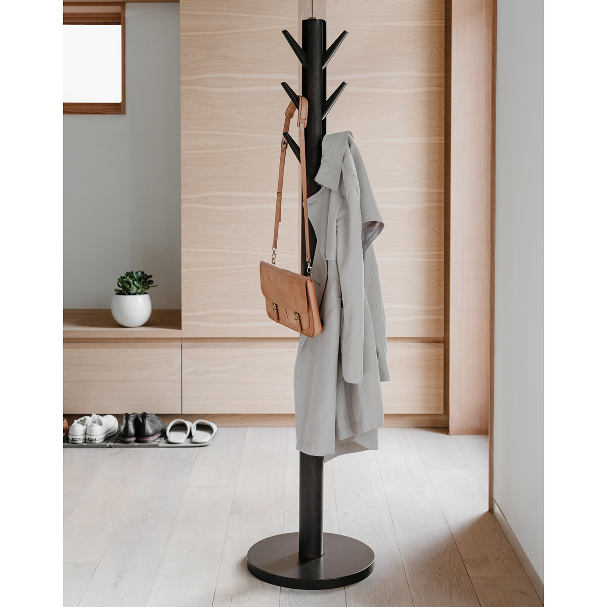 Umbra Walnut Flapper Coat Rack