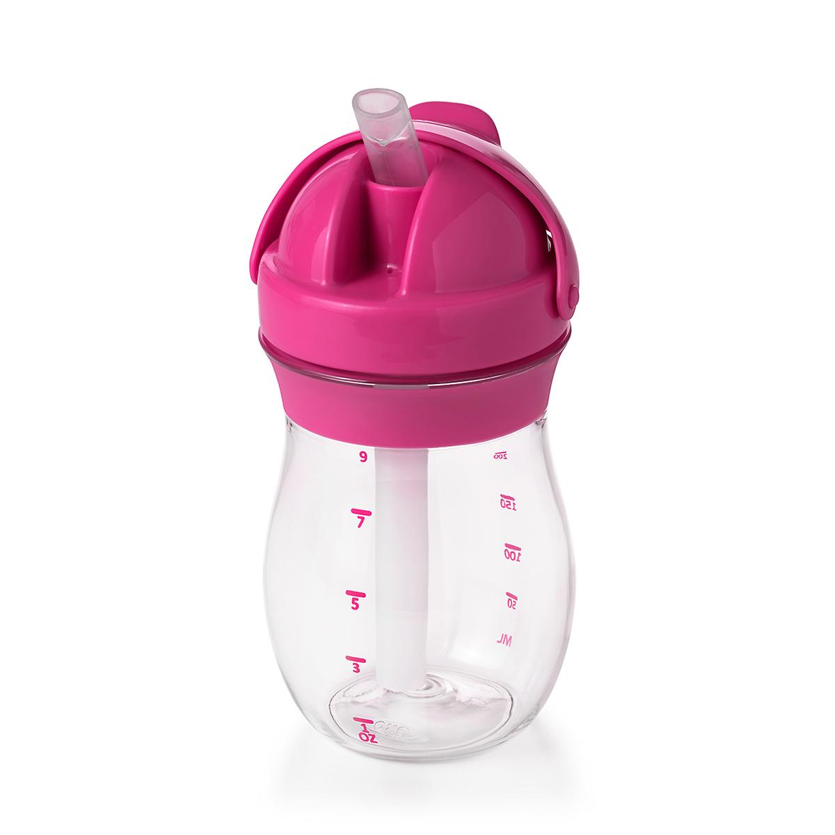 OXO Tot Pink Transitions Straw Cup