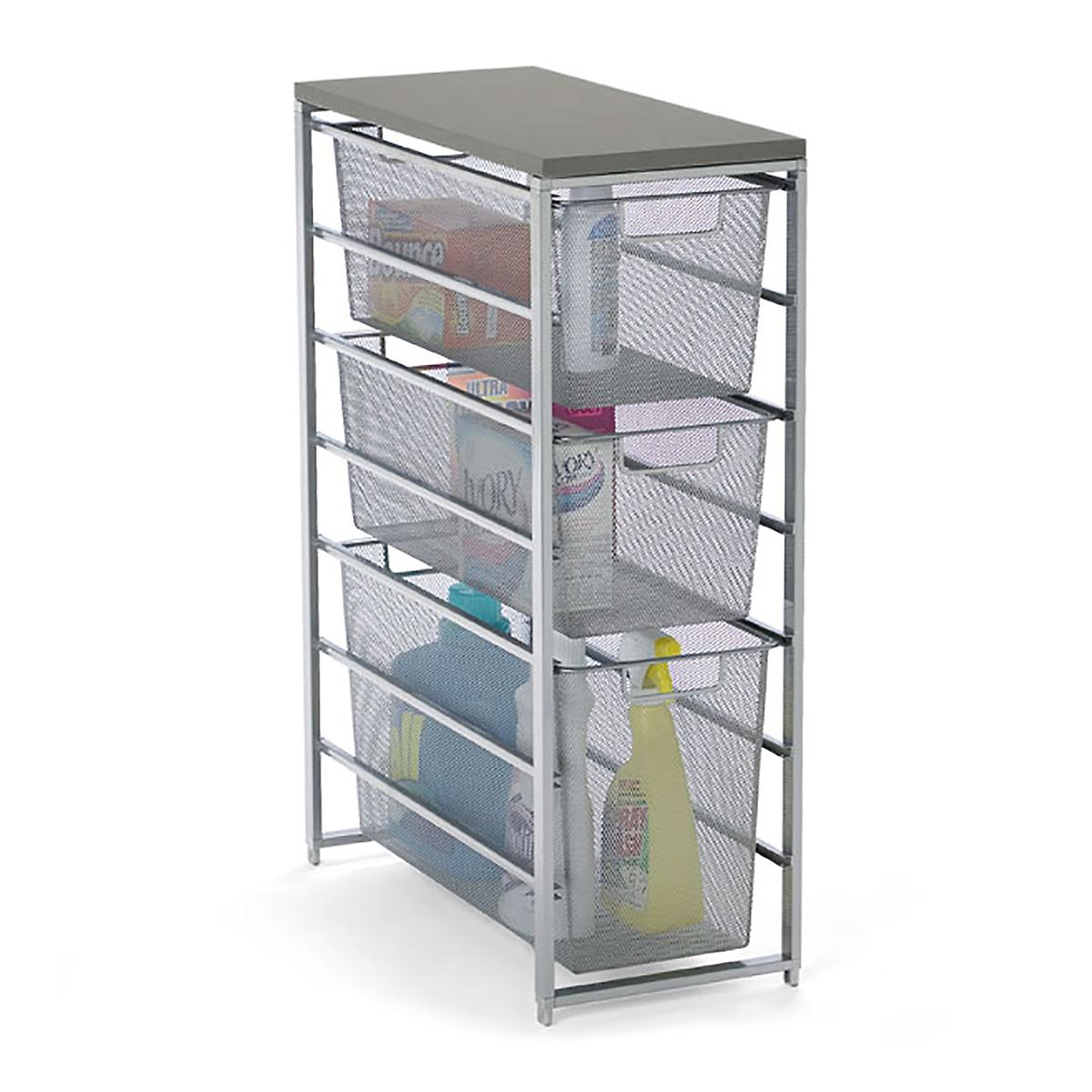 Elfa Platinum & Grey Mesh Laundry Storage