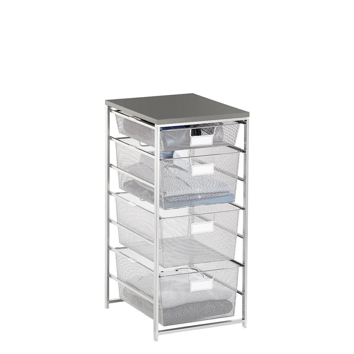 Elfa Platinum & Grey Cabinet-Sized Mesh Closet Drawers