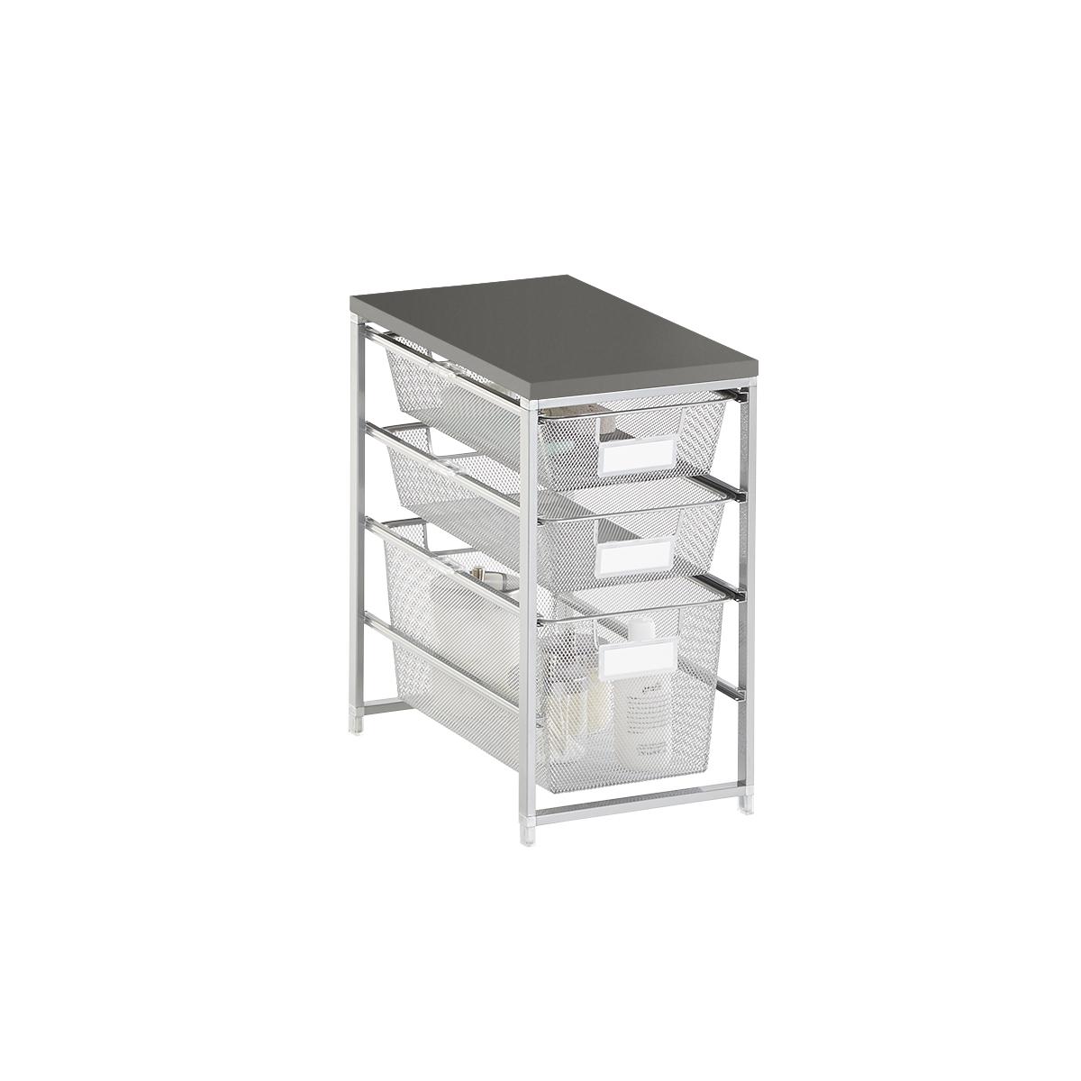 Elfa Platinum & Grey Cabinet-Sized Mesh Bath Storage