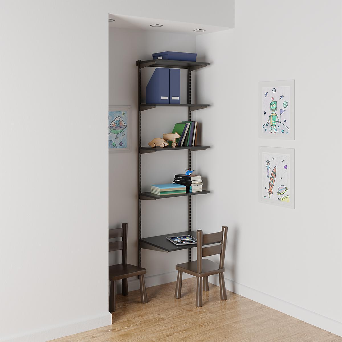 Elfa Slate & Graphite Kids' Study Nook