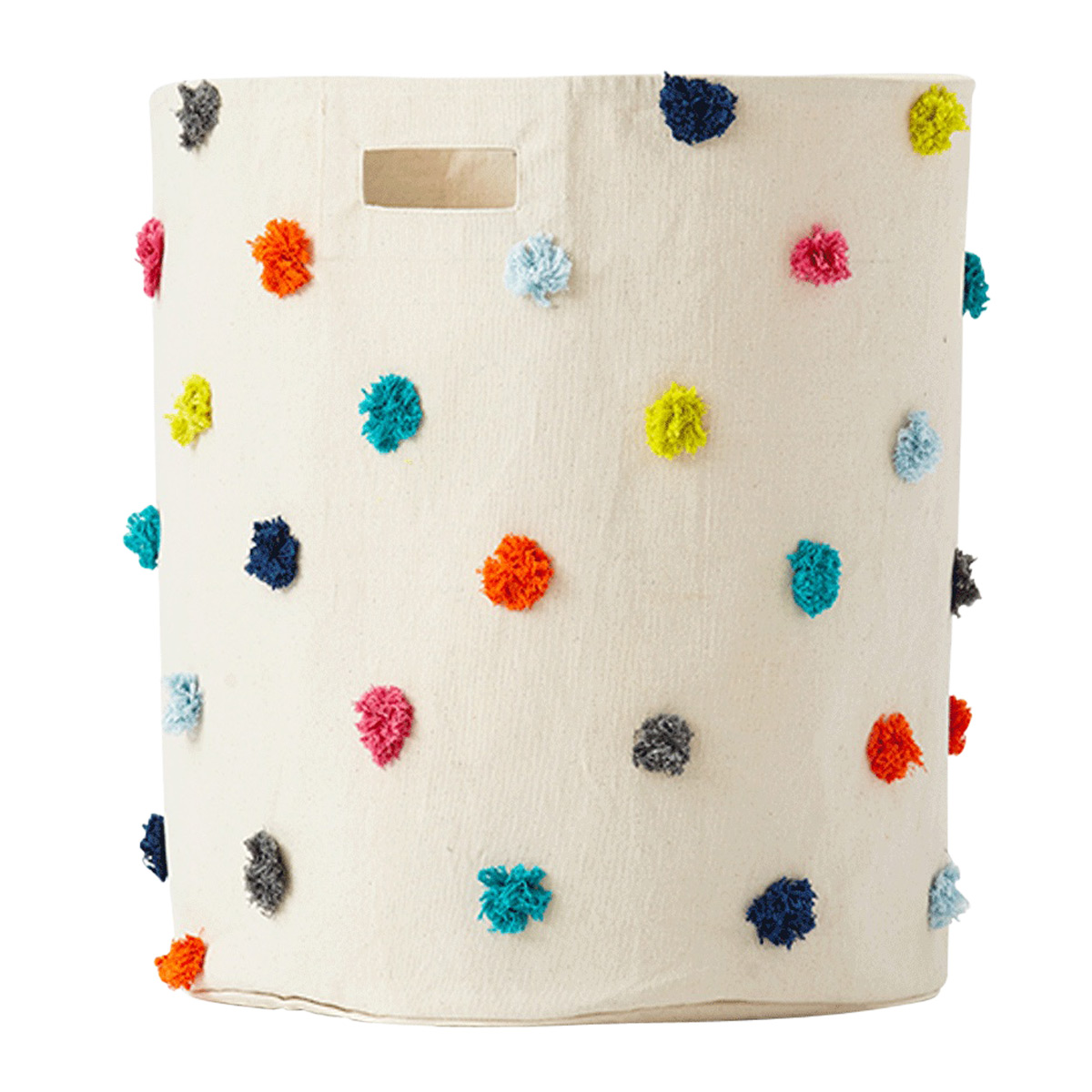 Pehr Pom Pom Multi-Color Laundry Hamper