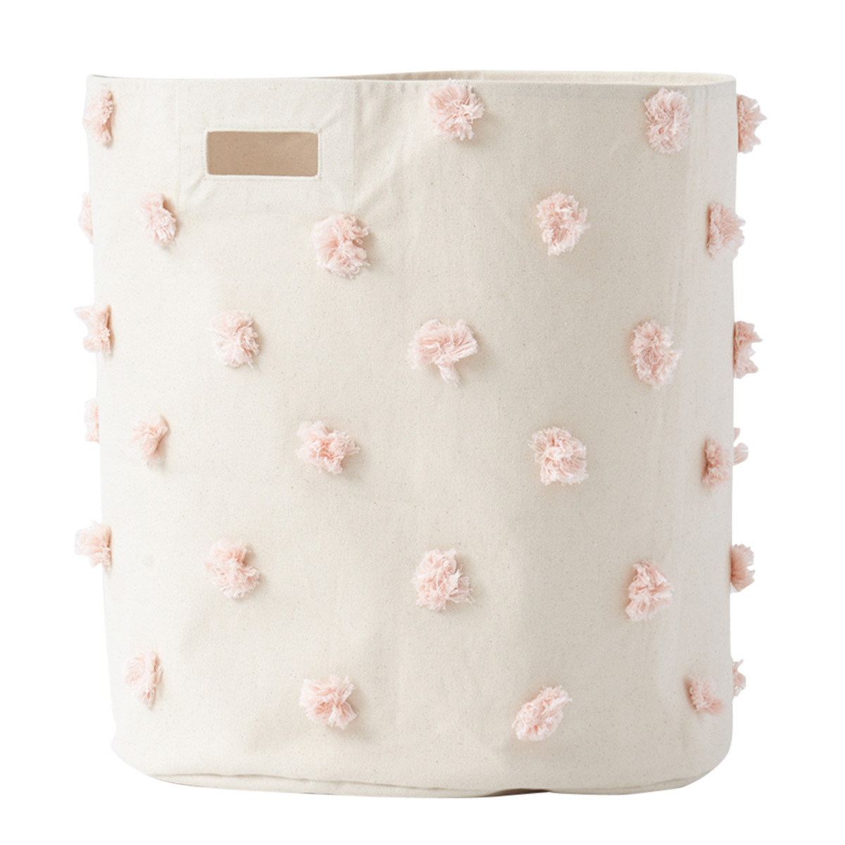 Pehr Pom Pom Blush Laundry Hamper