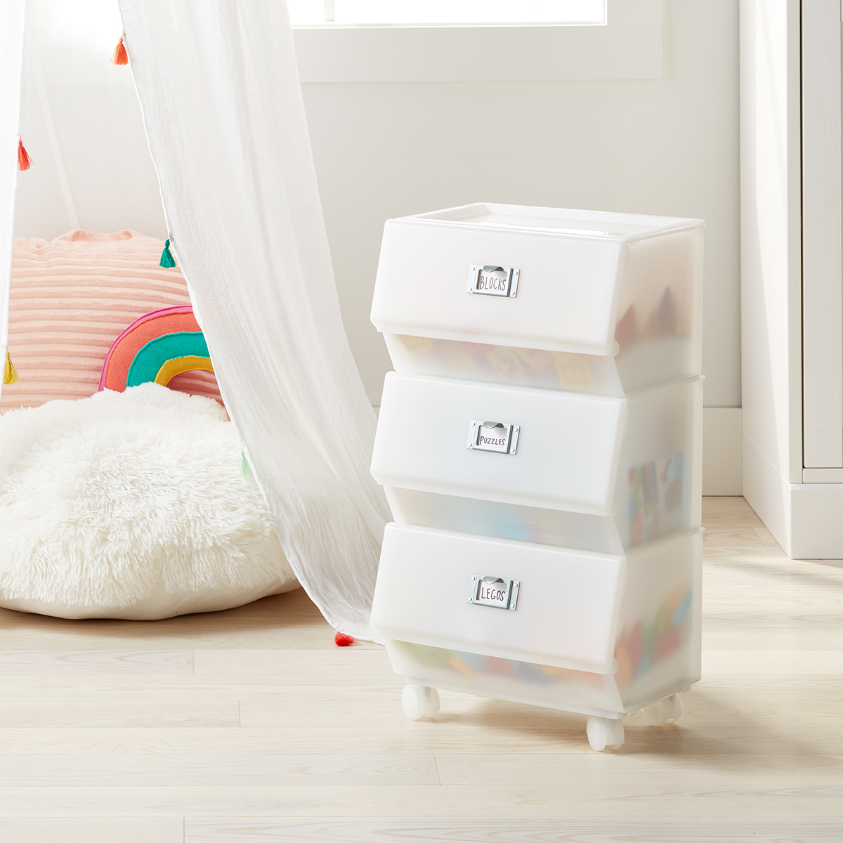 Like-It 3-Tier Stacking Peek-A-Boo Bin