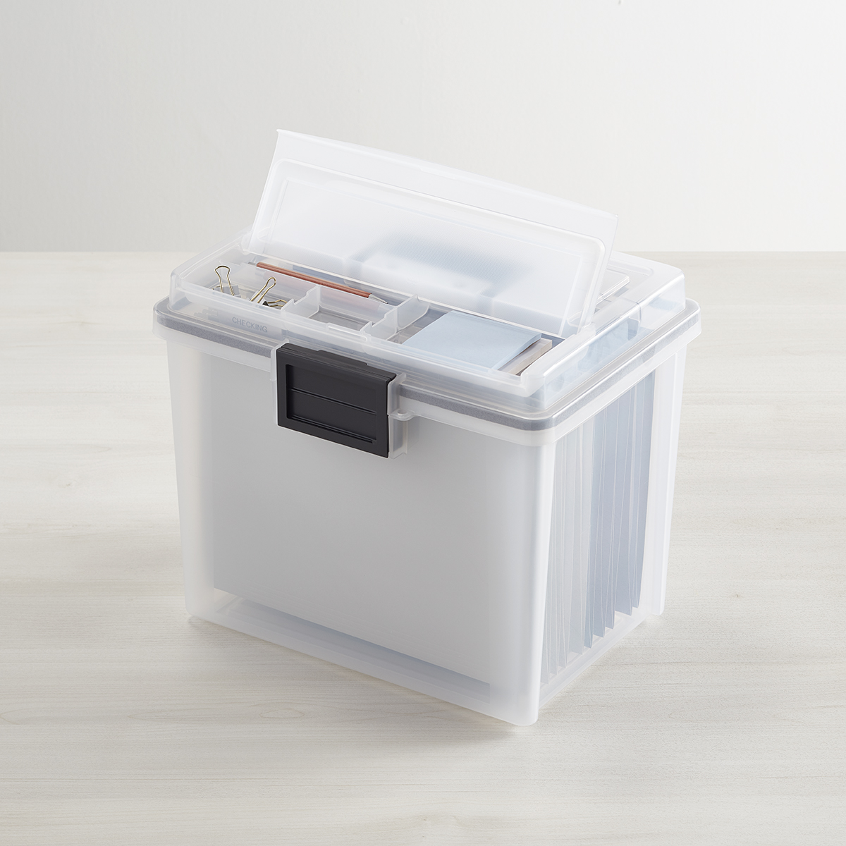 Iris Weathertight Portable File Box with Handle