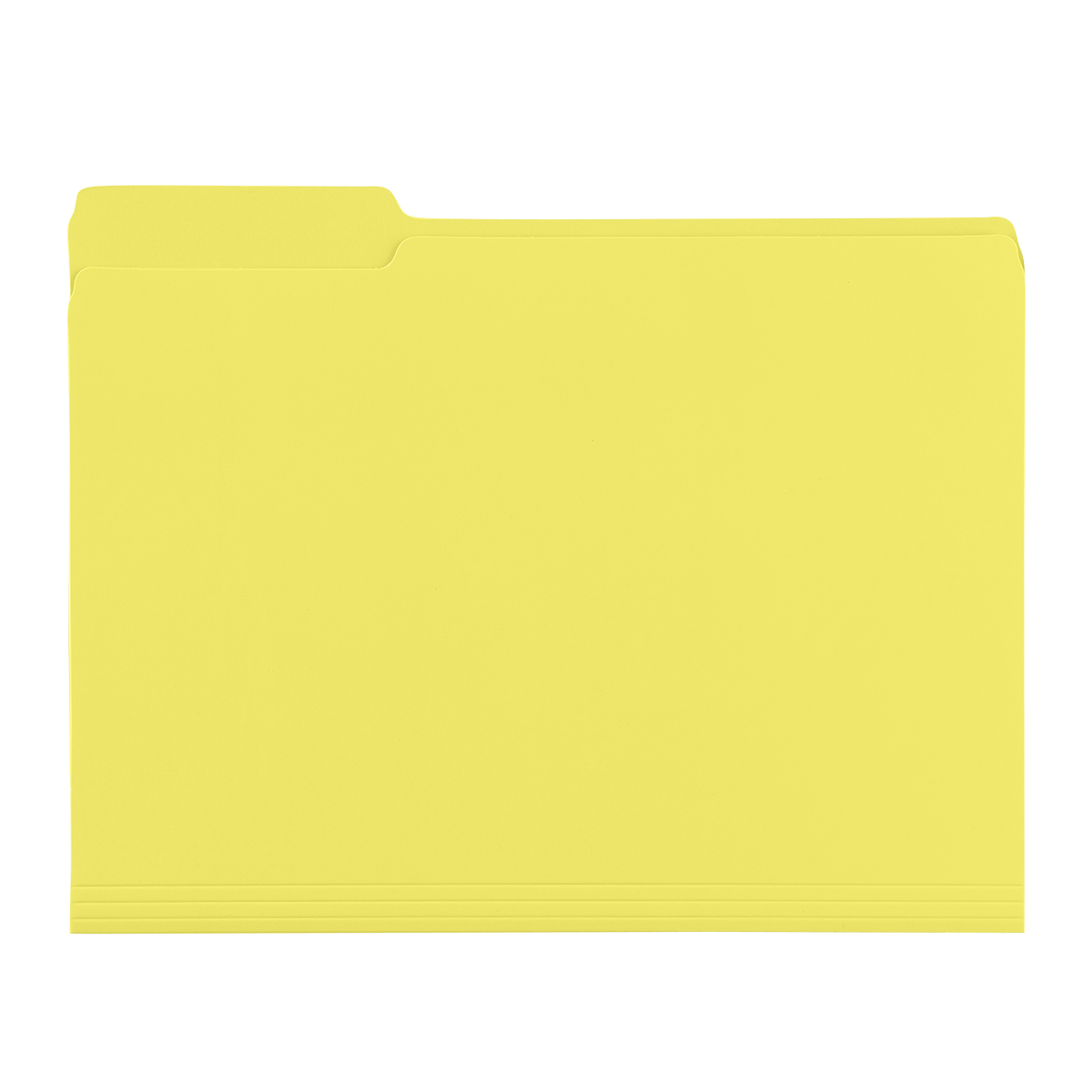 Yellow Letter-Size Interior File Folders
