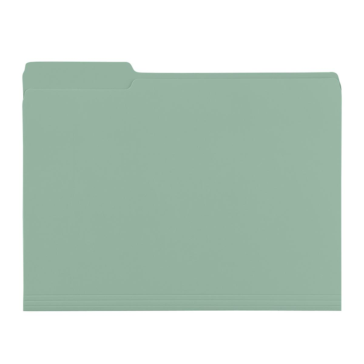 Sage Green Letter-Size Interior File Folders