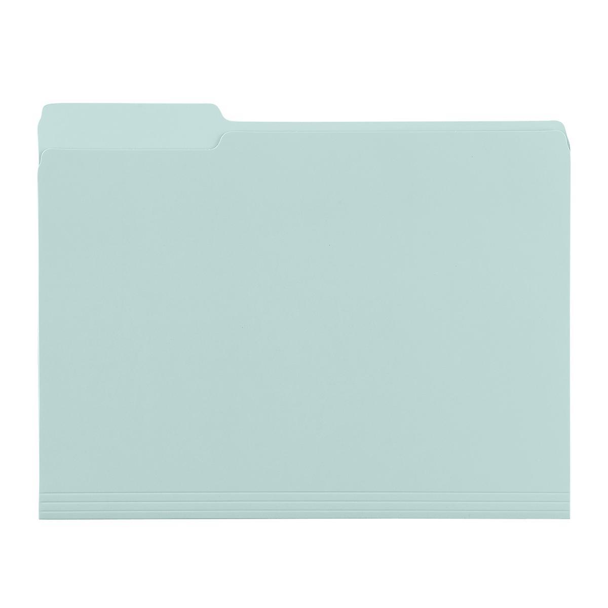 Light Blue Letter-Size Interior File Folders
