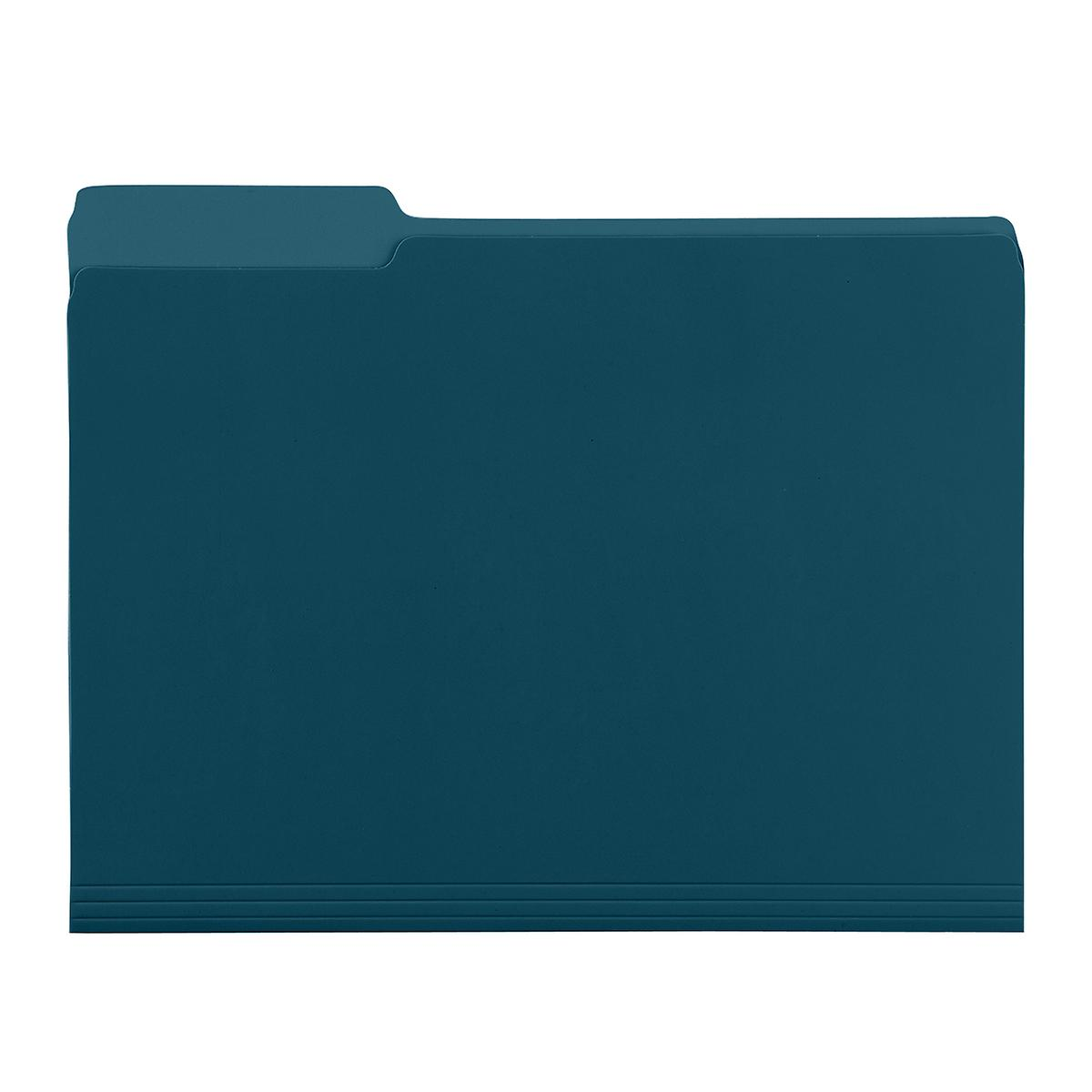 Teal Letter-Size Interior File Folders