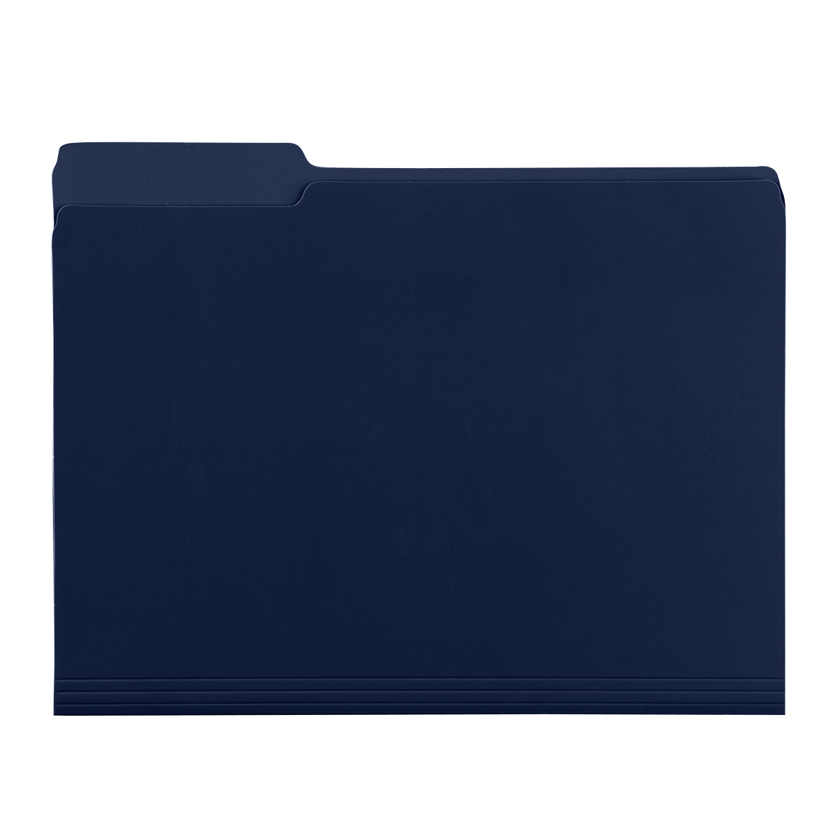Navy Letter-Size Interior File Folders