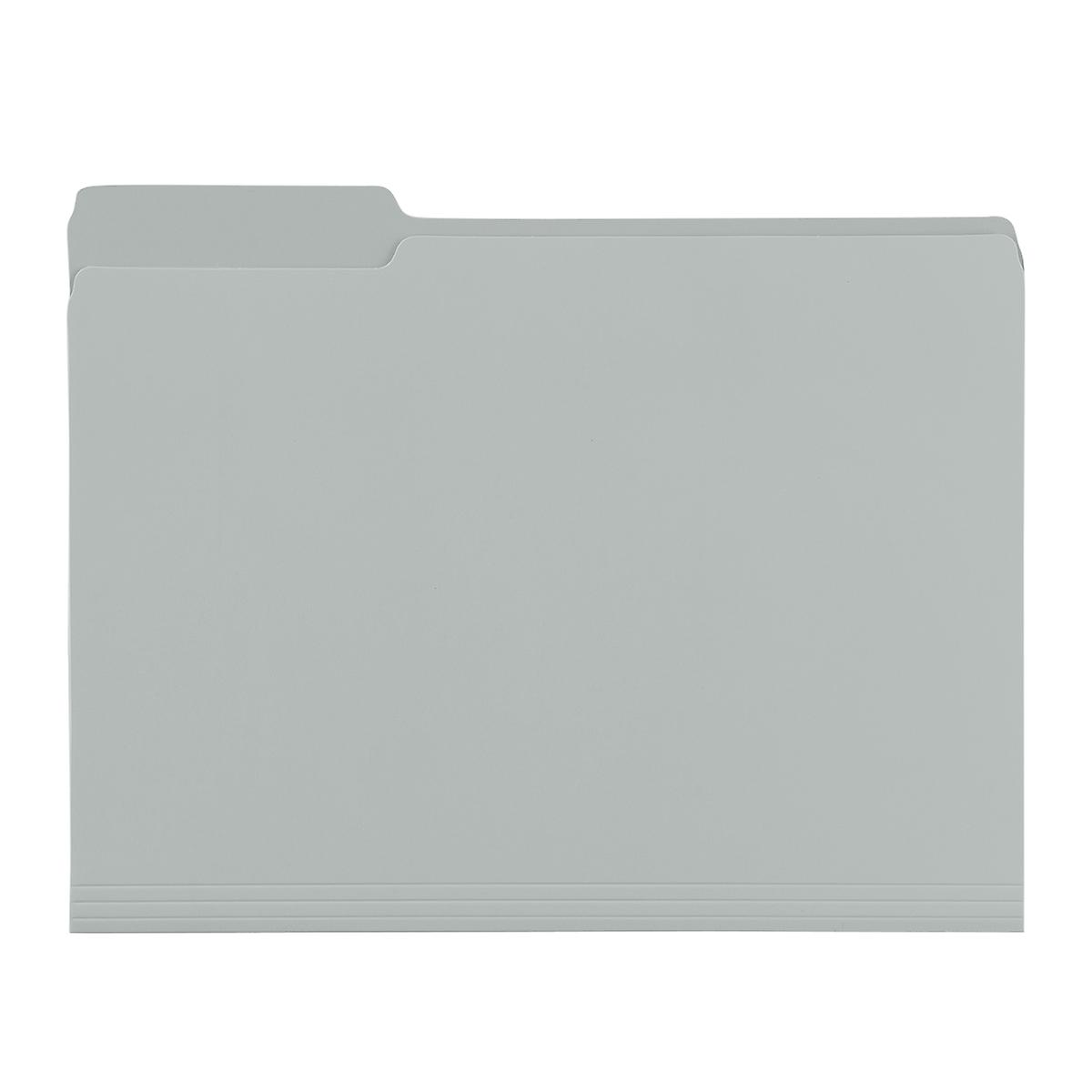 Grey Letter-Size Interior File Folders