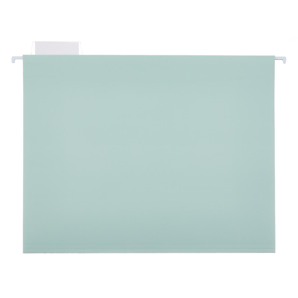 Light Blue Letter-Size Hanging File Folders