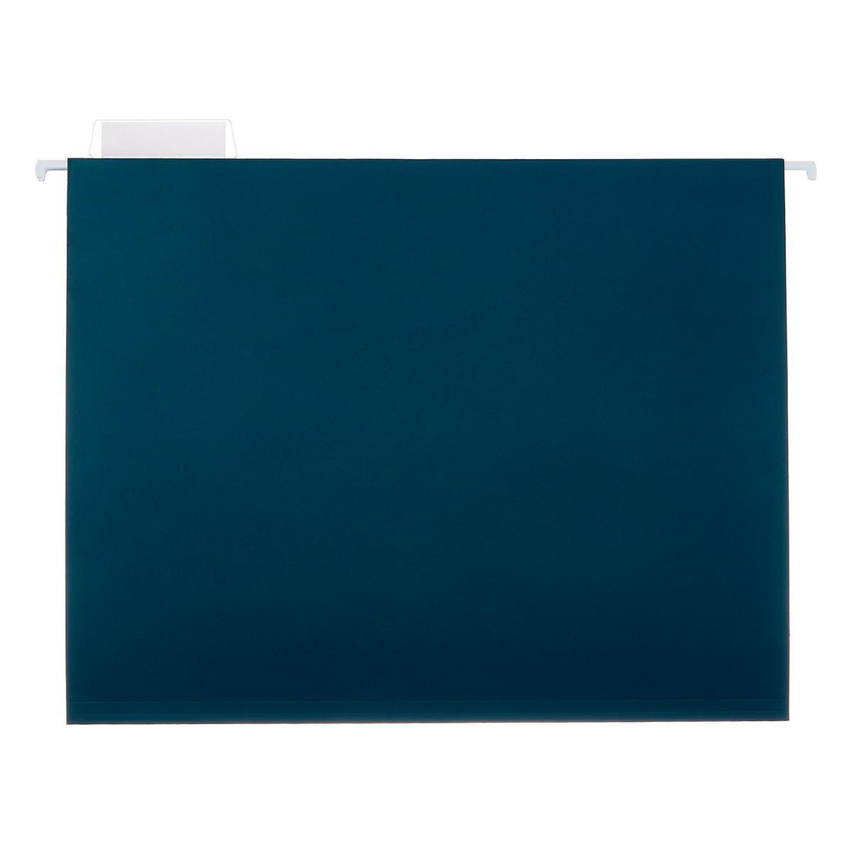 Teal Letter-Size Hanging File Folders