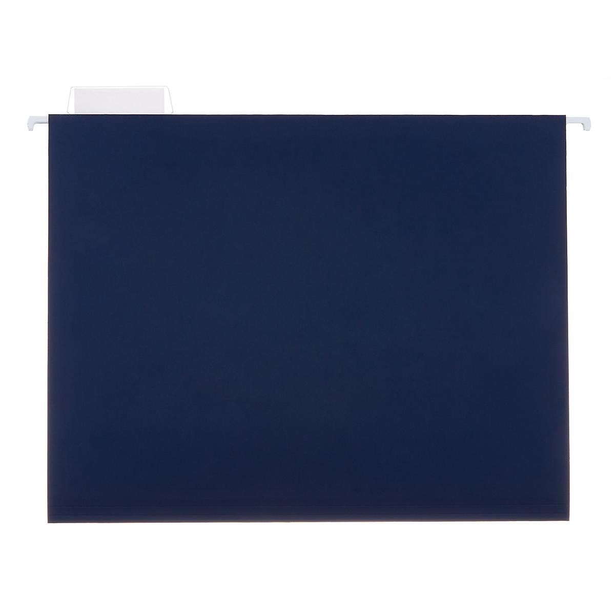 Navy Letter-Size Hanging File Folders
