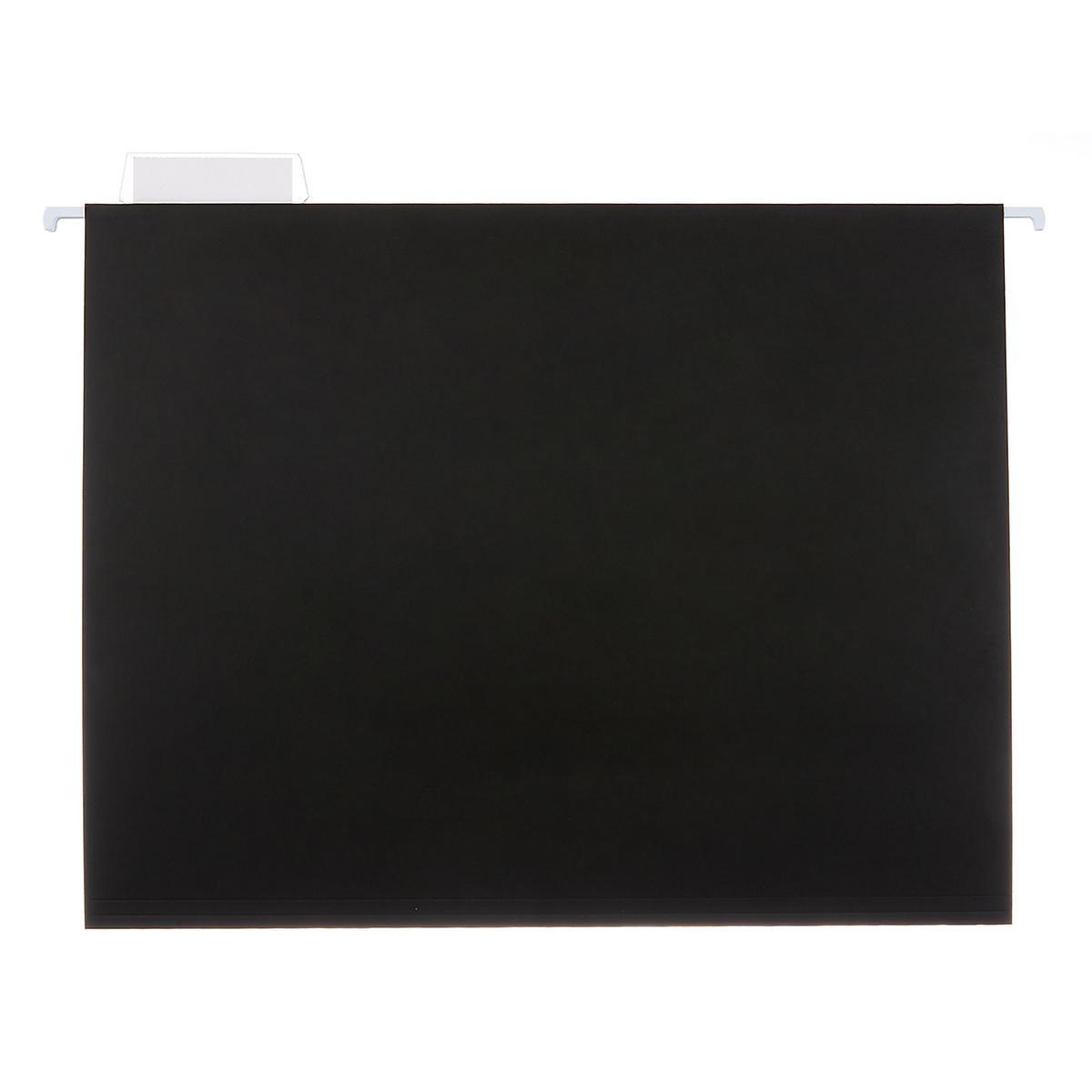 Black Letter-Size Hanging File Folders