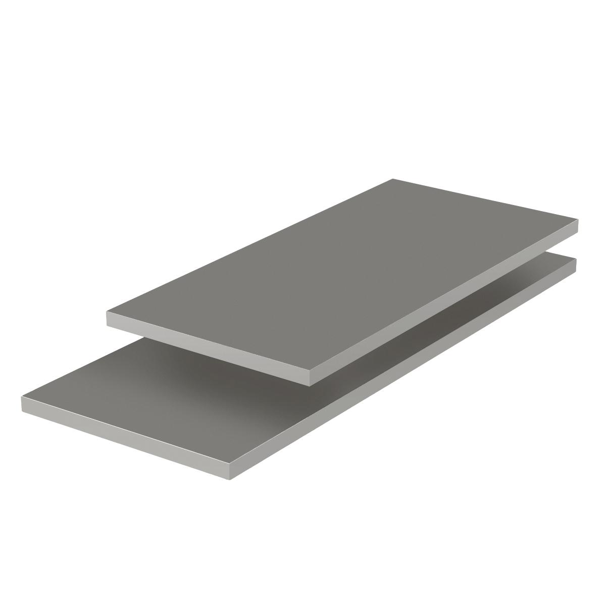 Grey Melamine Shelves