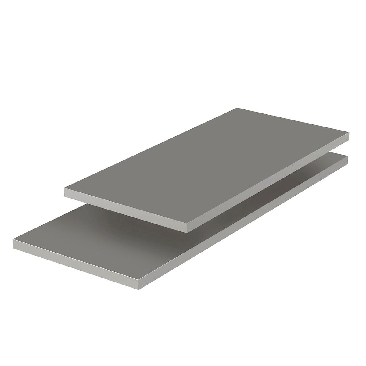 Grey Melamine Shelves